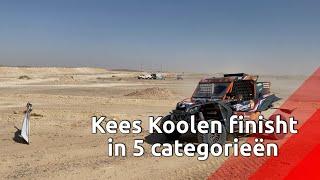 Kees Koolen bij finish Dakar Rally: vijf uit vijf
