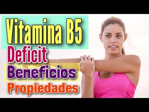 Vitamina B5 beneficios ¿Para qué sirve? Posible deficiencia