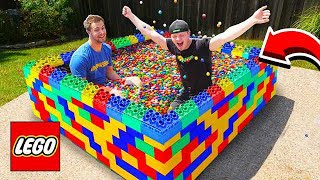 Video PUTTING 50,000 GUMBALLS IN A LEGO POOL! MP3, 3GP, MP4, WEBM, AVI, FLV September 2019