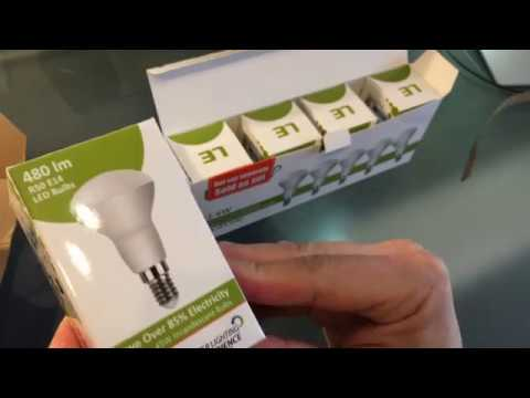 Unboxing - LE LED E14 R50 480lm Reflektorlampe  warm white 50Hz