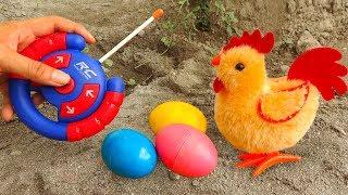 Chicken, carp, dinosaur, truck and interesting eggs - FMC I428B baby toys