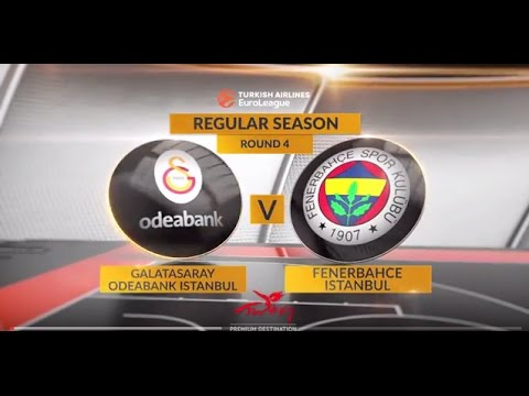 EuroLeague Highlights RS Round 4: Galatasaray Odeabank Istanbul 87-103 Fenerbahce Istanbul