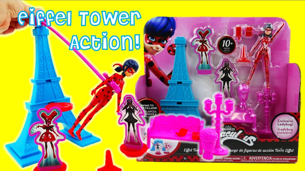 NEW Miraculous Ladybug Eiffel Tower Action Set and Playset Toy Review | Evies Toy House