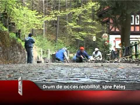 Drum de acces reabilitat, spre Peleş