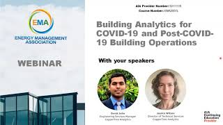 EMA Webinar Building Analytics for COVID 19 and Post COVID 19 Building Operations
