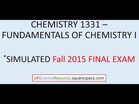 General Chemistry 1 (CHEM 1331) – FINAL EXAM FALL 2015 ...
