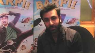 Ranbir Kapoor in London for the Barfi! Promotion Tour
