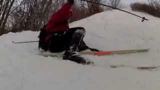 preview picture of video 'TripLevé - Ski nordique tremplin Mt Royal UdeM - Antoine - 150320'