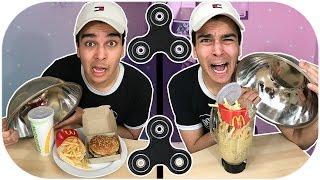 Real Food VS Blended Food! GROSS CHALLENGE! Ft. FIDGET SPINNERS!