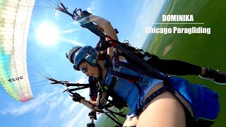 Tandem with Dominika | Chicago Paragliding