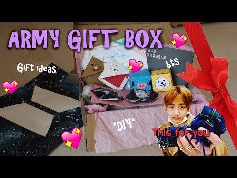 DIY Army Gift Box (BTS Gift Ideas)