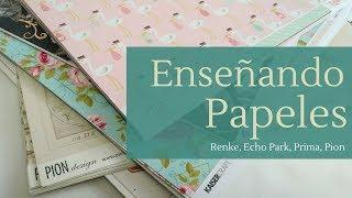 ENSEÑANDO PAPELES: RENKE, PRIMA, ECHO PARK, PION DESIGN... (CON SATWA)   LLUNA NOVA SCRAP