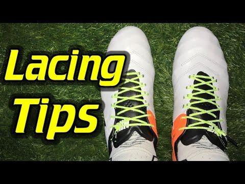 Lacing Tip – Cleanest Way to Tie Soccer Cleats/Football Boots