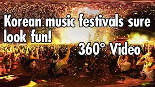 360º Experience in a Crowded South Korean Music Festival