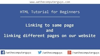 Linking Within Same Page and Different Pages
