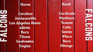 Atlanta Falcons Schedule 2019 | Mad Mike Sports