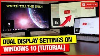 Settings for Dual Monitor Setup Windows 10.