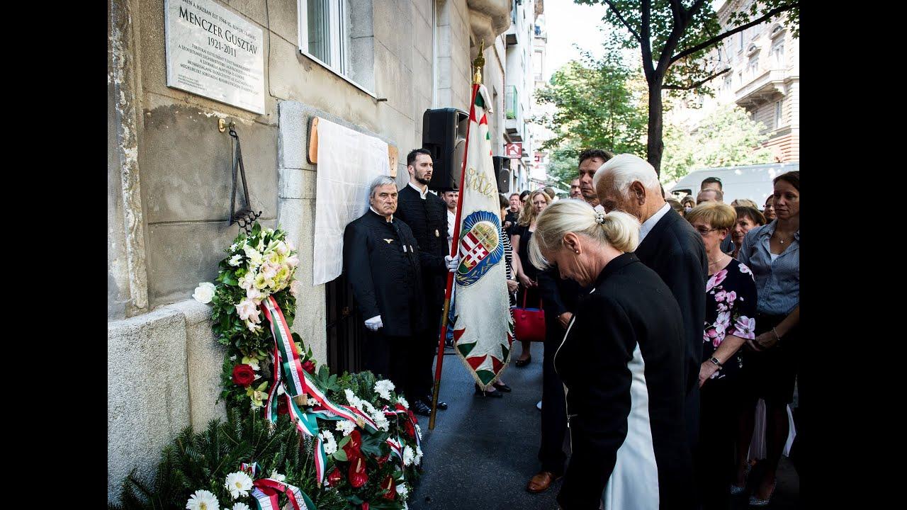 Menczer Gusztáv emléktáblájának ünnepélyes felavatása (NEB-videó)