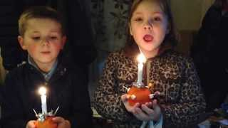 Christingle Song, Watch Her Eyes As Candle Goes Out!