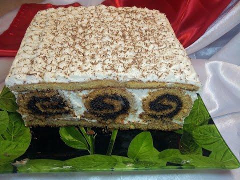 Быстрый и вкусный торт по новому.Торт с рулетами.