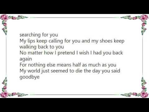 Warner Mack - My Shoes Keep Walking Back to You Lyrics