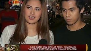 """24Oras: Julie Anne San Jose At Abra, sumalang sa video shoot ng kanta nilang """"Deadma"""""""
