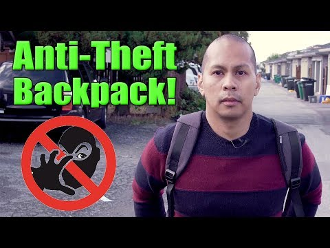 Anti-Theft Laptop Travel Backpack with USB Charging Port Review! [4K]