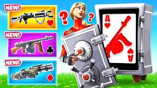 SEASON 9 VAULTED WEAPONS Card Game *NEW* Game Mode In Fortnite Battle Royale