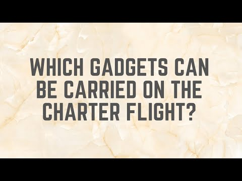 Which gadgets can be carried on flight?