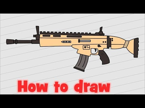how to draw a fortnite gun