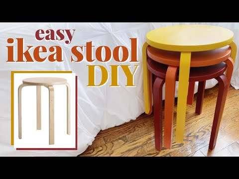 Easy IKEA DIY Frosta Stool Makeover! | Cheap, Quick, & Beginner-Friendly