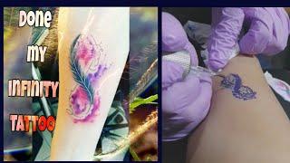 BEST INFINITY TATTOO DESIGN #INFINITYFEATHERTATTOO #INFINITYTATTOO #TATTOOFORLADIES #tattooinfinity