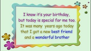 Birthday Wishes for Brother || Happy Birthday Brother