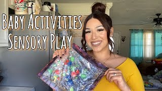 DIY BABY SENSORY BAGS & PLAY | Baby Activities For 4Months+