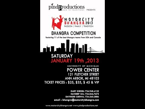 Motor City Bhangra Competition 2013 | Full Length Show