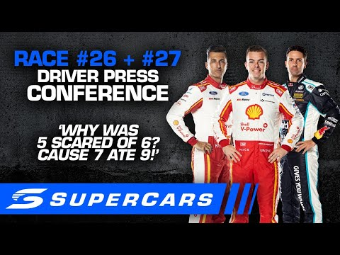 2020年 SUPERCARS OTRザベンド500 日曜日に行われたドライバーのプレスカンファレンスの様子をおさめた動画