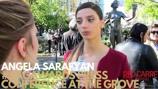 Angela Sarafyan interviewed at 23rd SAG Awards -Press conference with The Actor