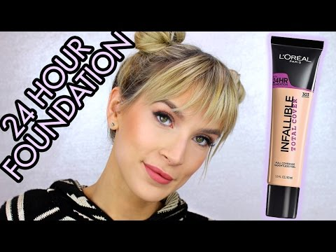 24 HOUR DRUGSTORE FOUNDATION WEAR TEST | Loreal Total Cover Foundation Review