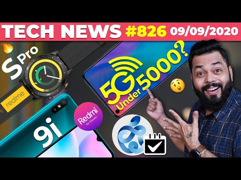 5G Phone Under 5000?, realme Watch S Pro Spotted, Redmi 9i Coming,🍎 Event,Android 11,Buds Z-#TTN826