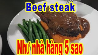 Vlog   Hướng Dẫn Làm Món Beefsteak Chuẩn Nhà Hàng 5 Sao   Món Ngon Mỗi Ngày   #myleaustralia