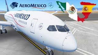Infinite Flight - Barcelona to Mexico City | AeroMexico, Boeing 787 | Global Flight Simulator