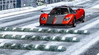 SPEEDBUMPS AT MAX SPEED #11 - BeamNG Drive
