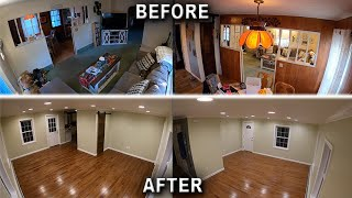 Living Room Remodel Time-Lapse Complete Gut 5 Month Renovation