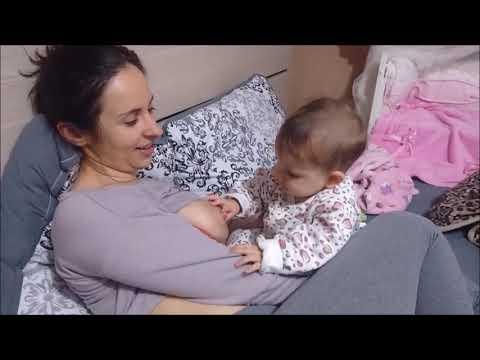 cute baby mom breastfeeding....