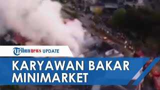 Sakit Hati Diminta Mengganti Uang Jualan yang Minus, Karyawan di Makassar Nekat Bakar Minimarket