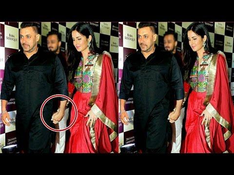 Salman Khan & Katrina Kaif Caught Holding Hand At Baba Siddiqui Iftar Party 2016 !