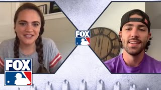 Dansby Swanson, USWNT star Mallory Pugh on best athlete in their relationship for charity   FOX MLB