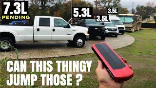 Lithium Jump Starter VS Dump Truck  NOCO Genius Boost PRO