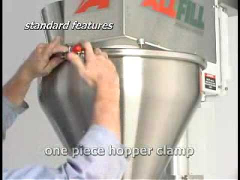 Auger Filler Machine Model B 350e  All-Fill Auger Filling Systems - Model B350e - Semi-Automatic