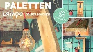 Stehlampe aus Paletten   Lampe selber bauen   Tischlampe   Schreibtischlampe   Holzlampe DIY
